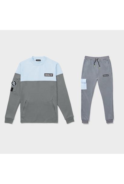 Future polyester tracksuit grey & light blue