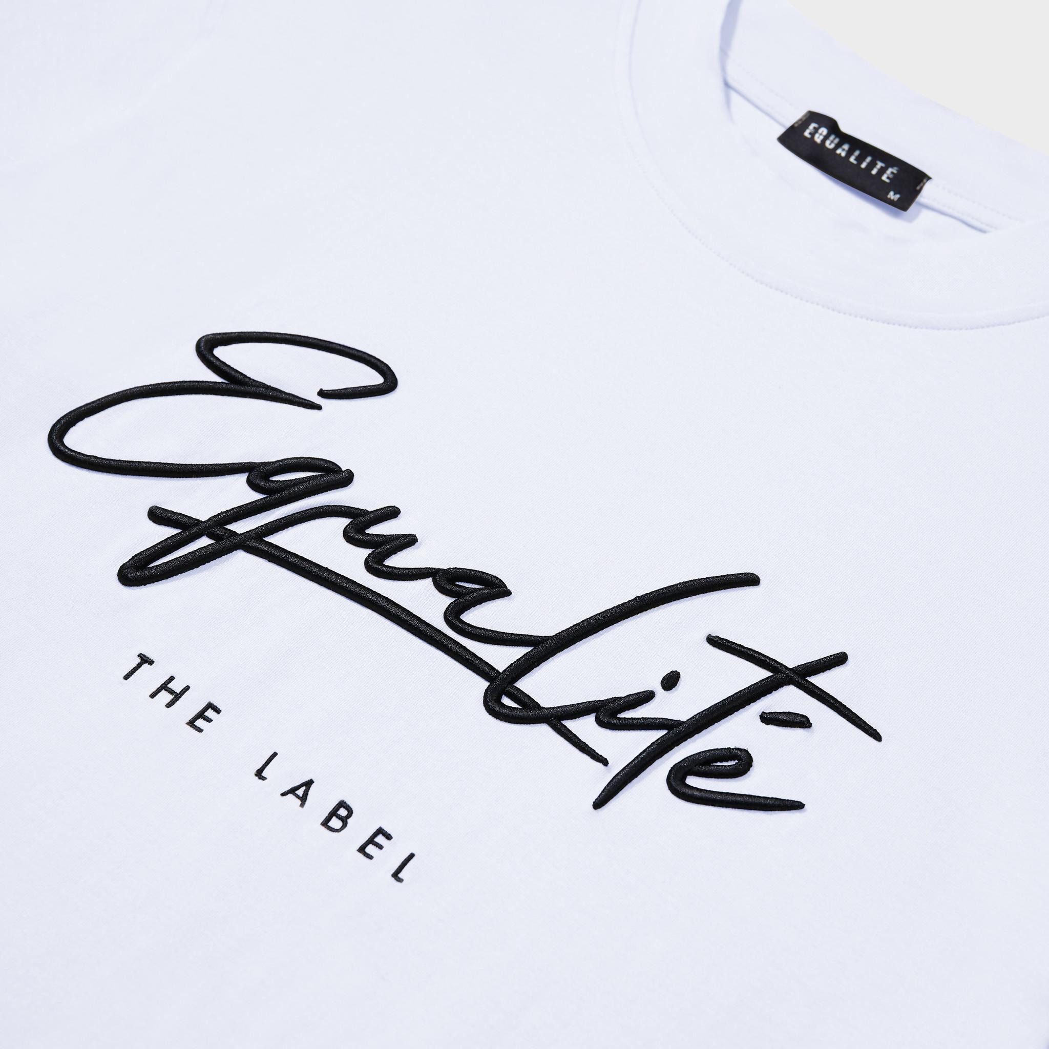 Wafi signature tee white & black-3