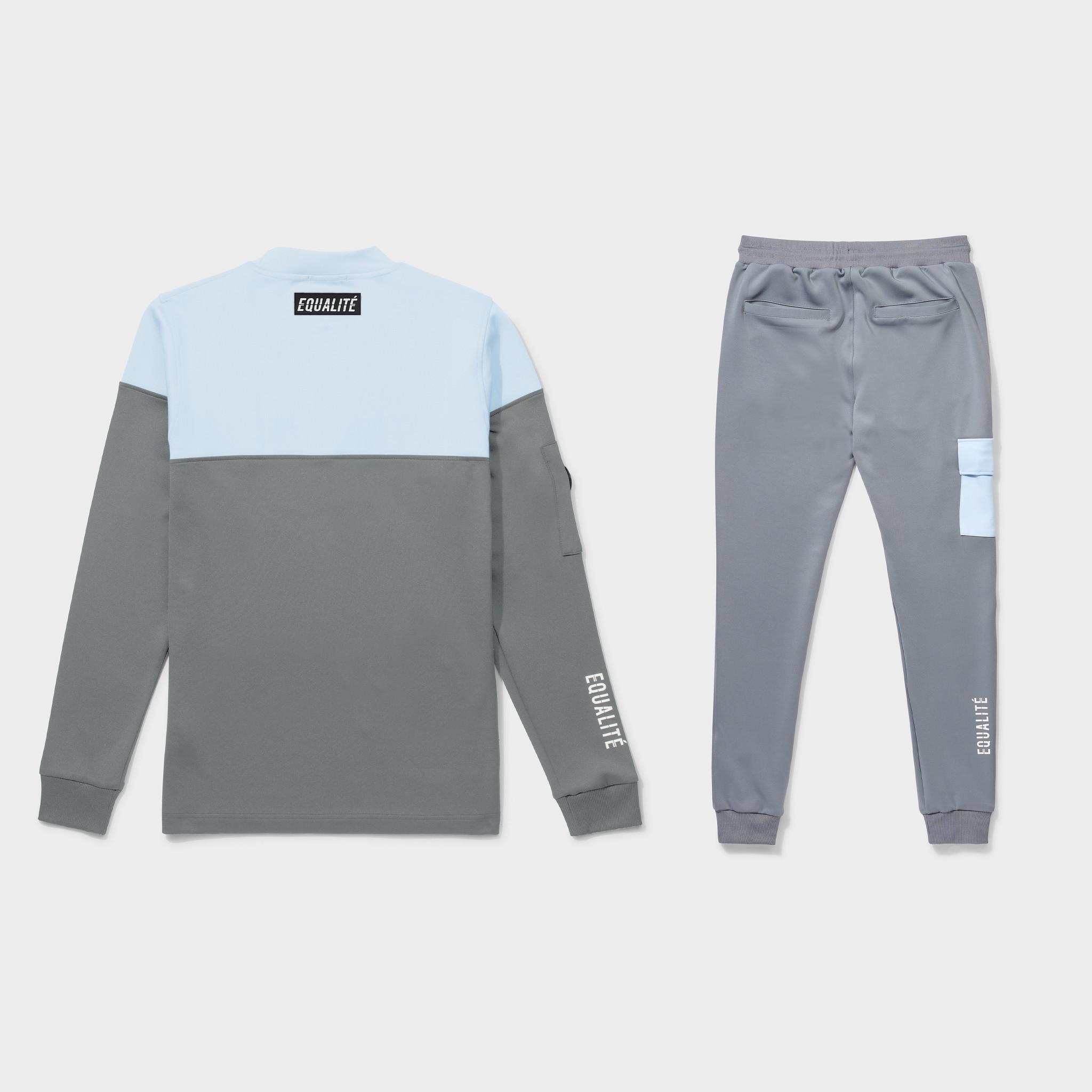Future polyester tracksuit grey & light blue-2