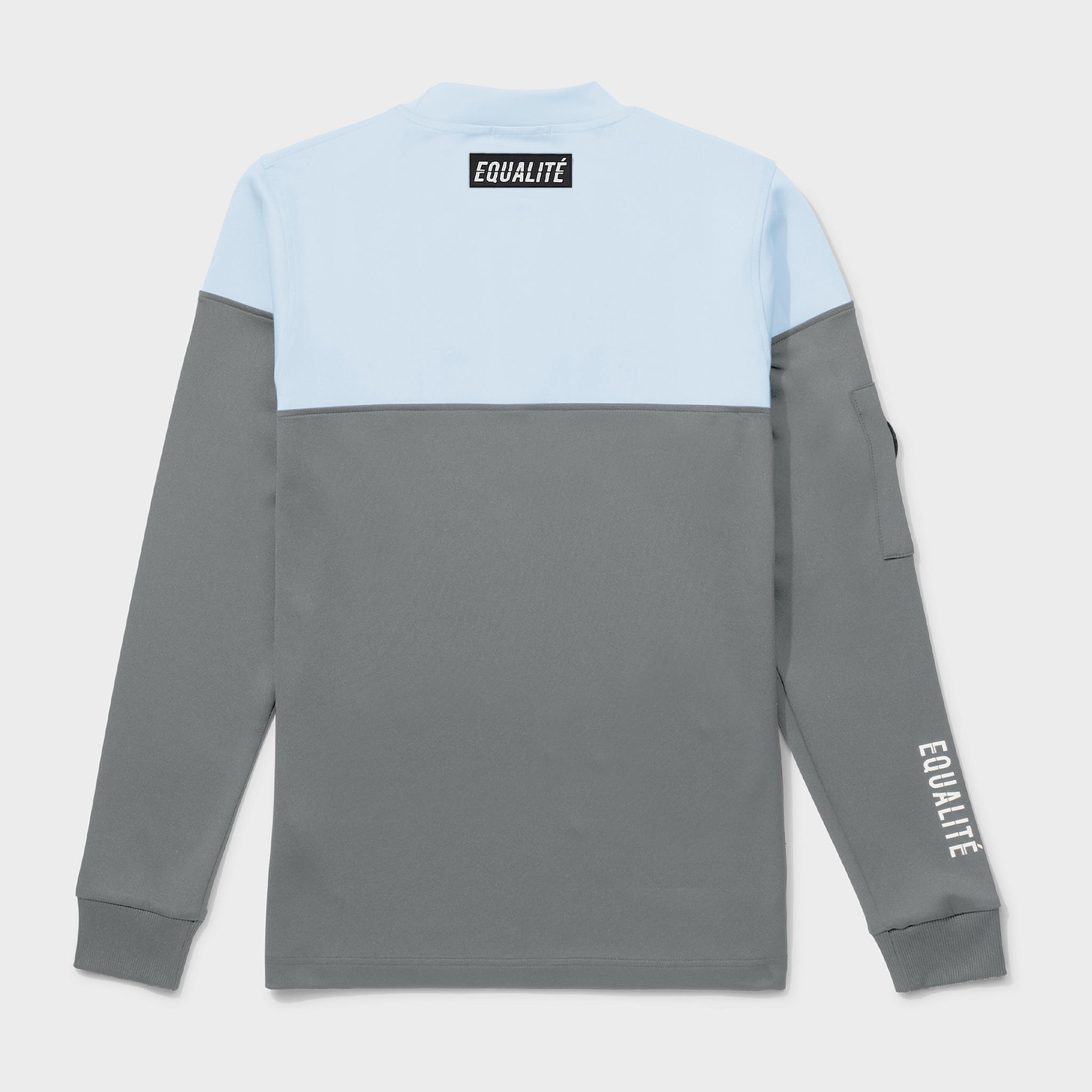 Future polyester tracksuit grey & light blue-4