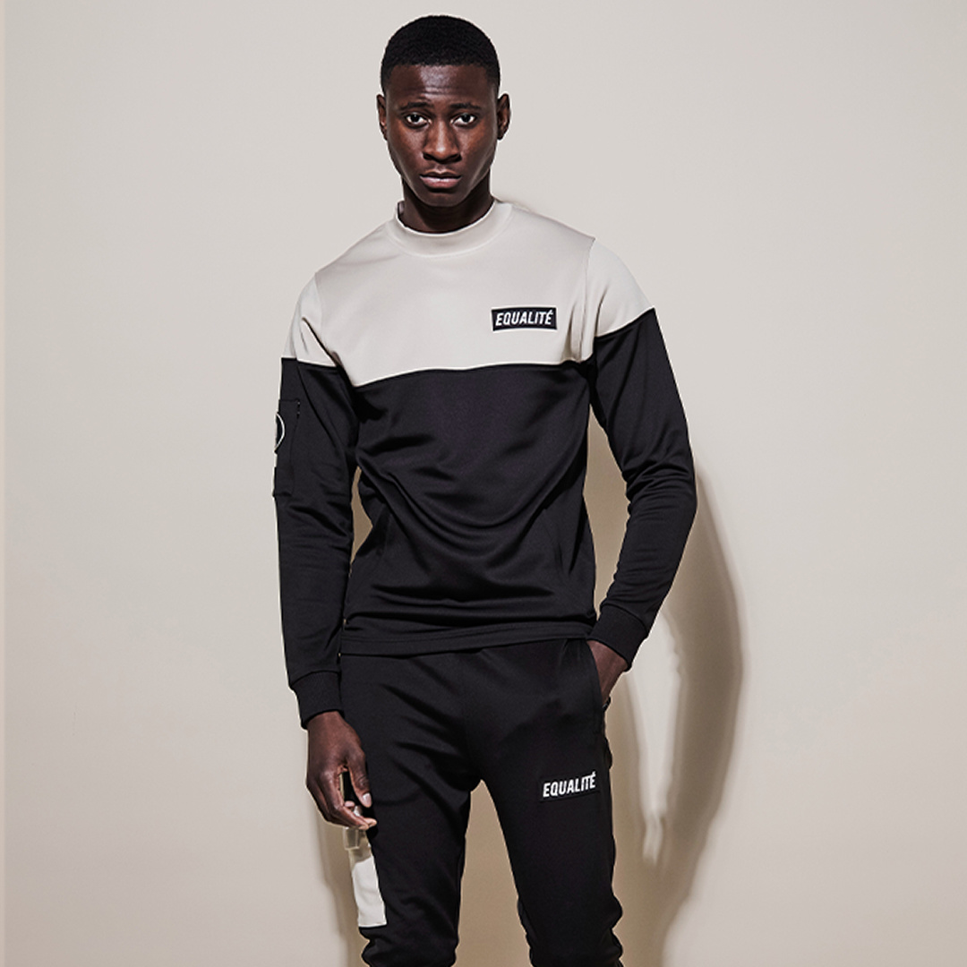 FUTURE POLYESTER TRACKSUIT BLACK BEIGE-9