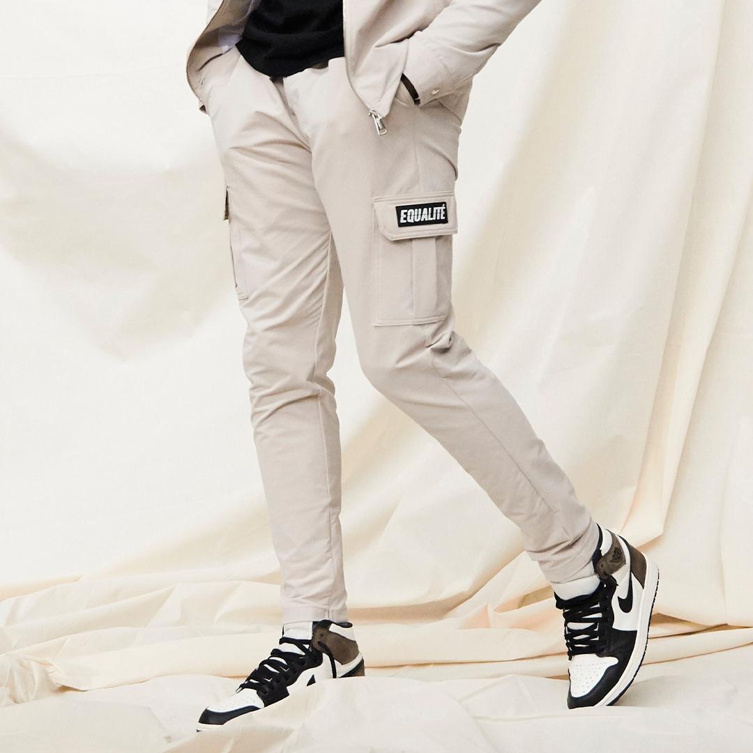 Cargo pants beige-5