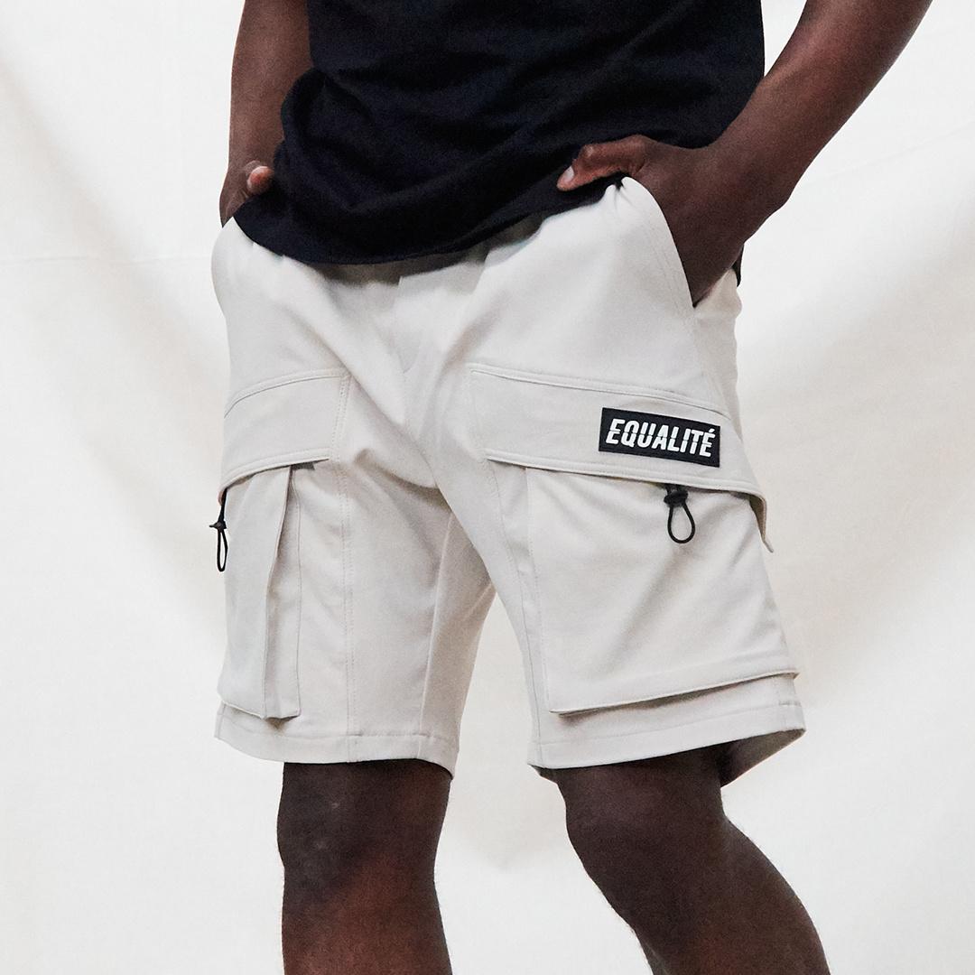Rafa cargo shorts beige-4
