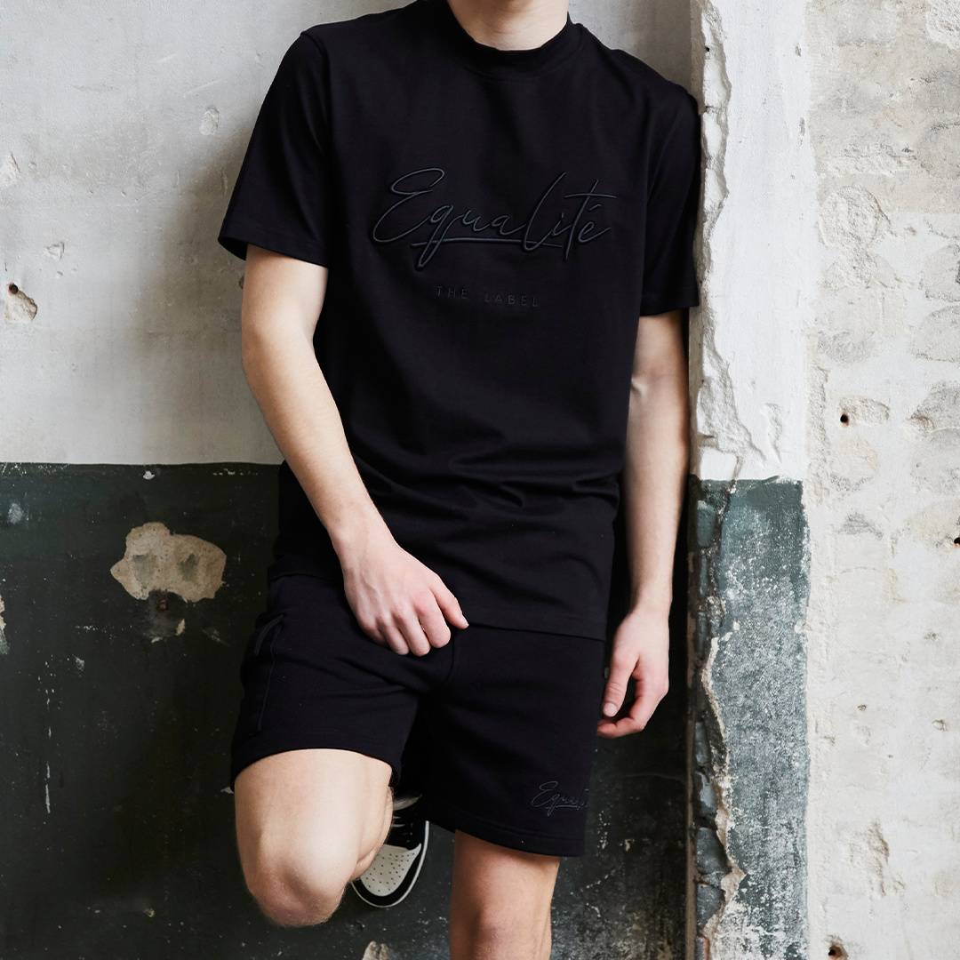 Wafi signature shorts black & antra-4
