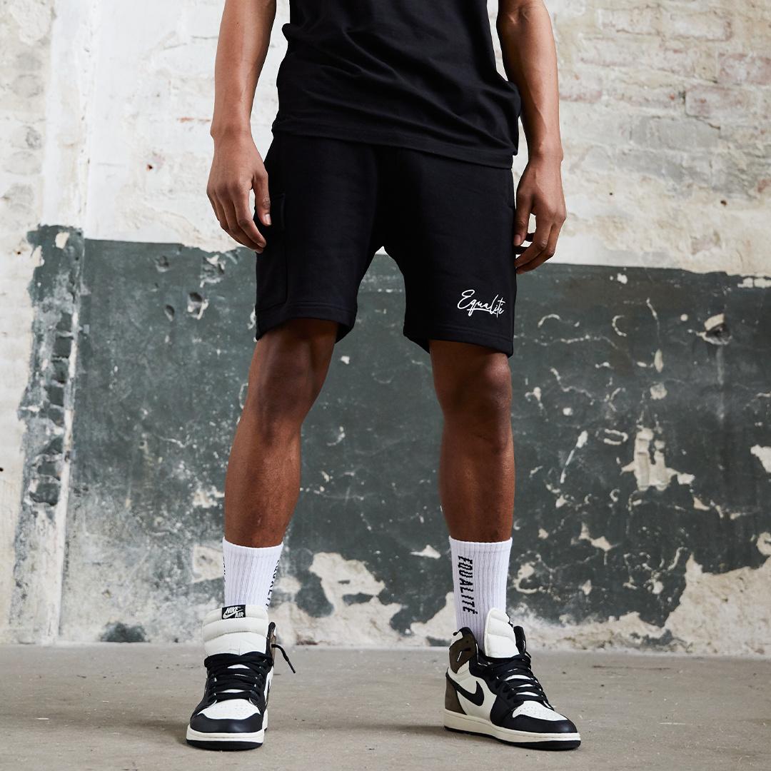 Wafi signature shorts black & white-4