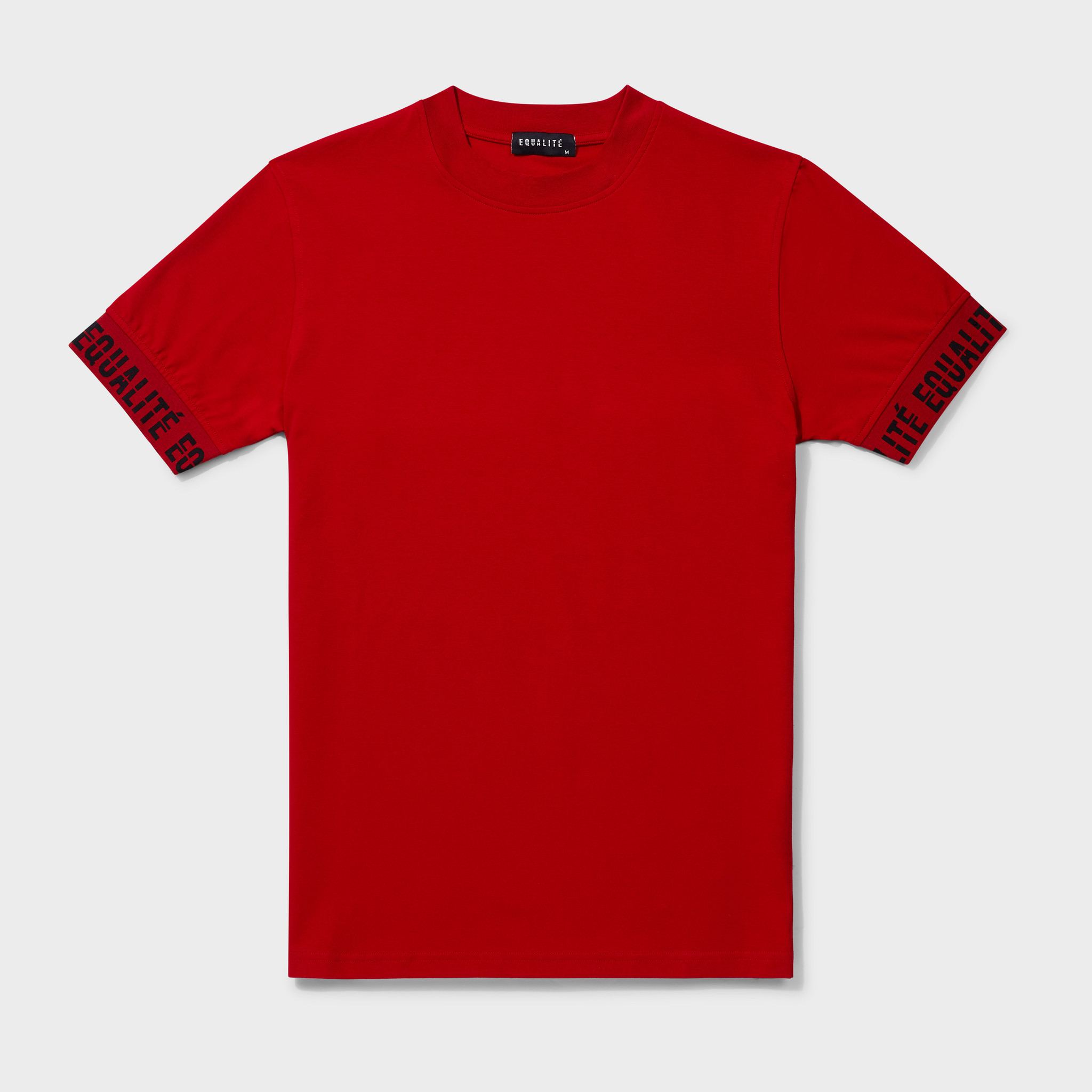 BAND TEE RED & BLACK-1