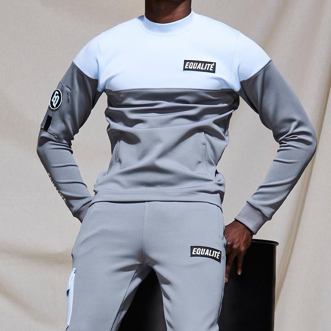 Future polyester tracksuit grey & light blue-10