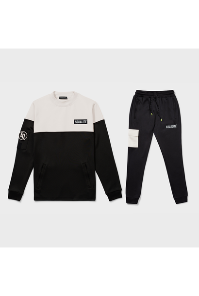 FUTURE POLYESTER TRACKSUIT BLACK & BEIGE