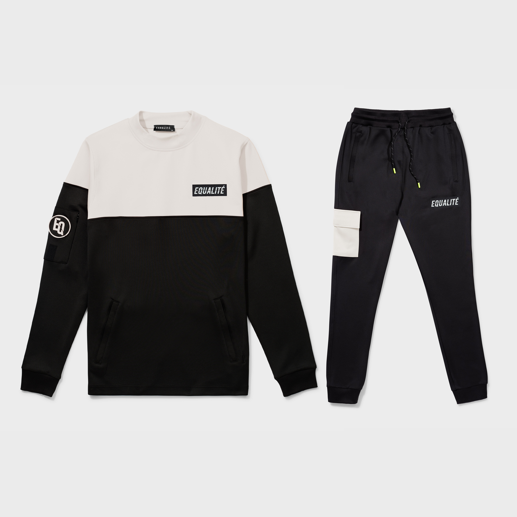 FUTURE POLYESTER TRACKSUIT BLACK BEIGE-1