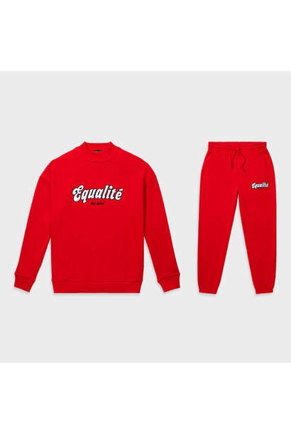 Moza tracksuit red