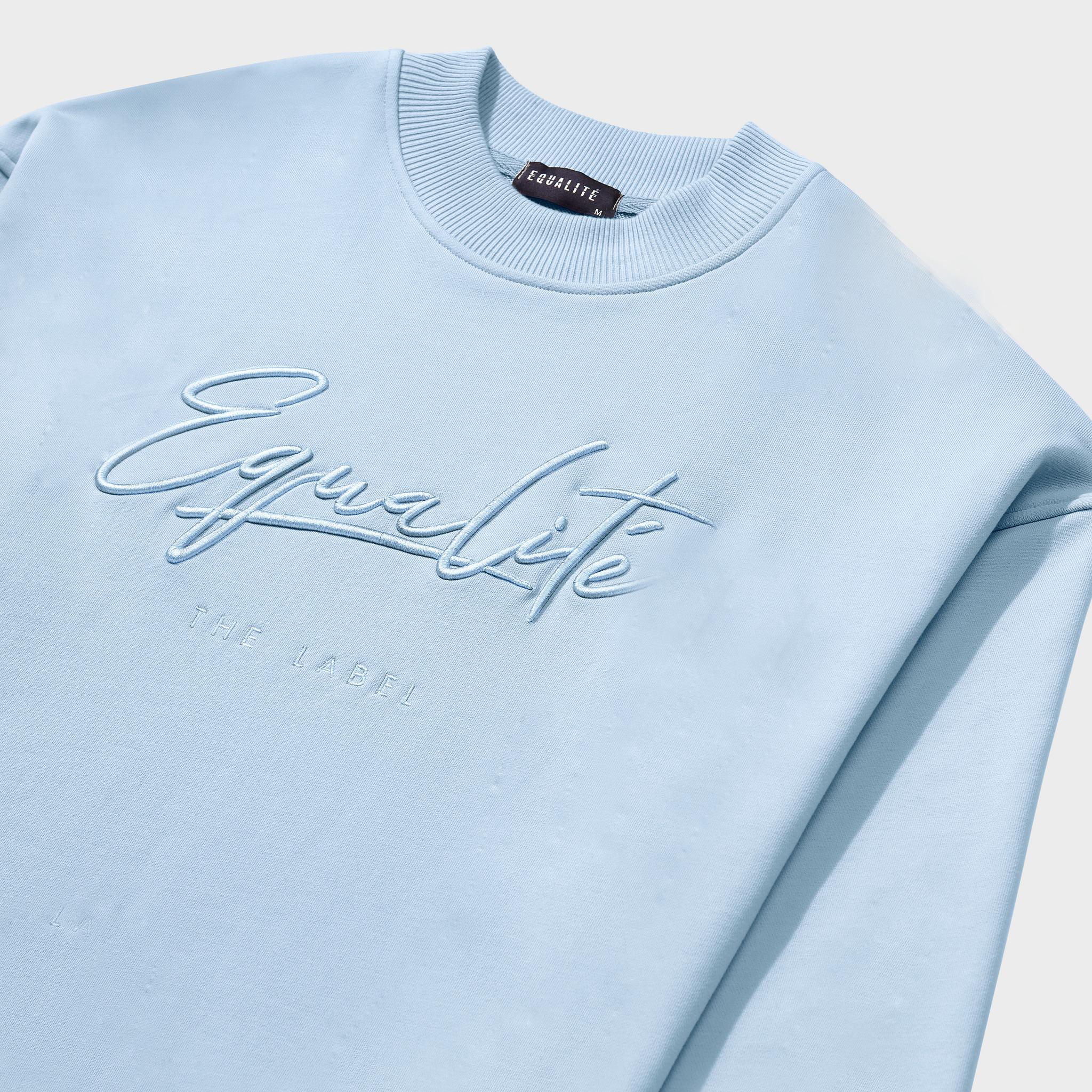 Wafi Signature Sweater Light Blue-3