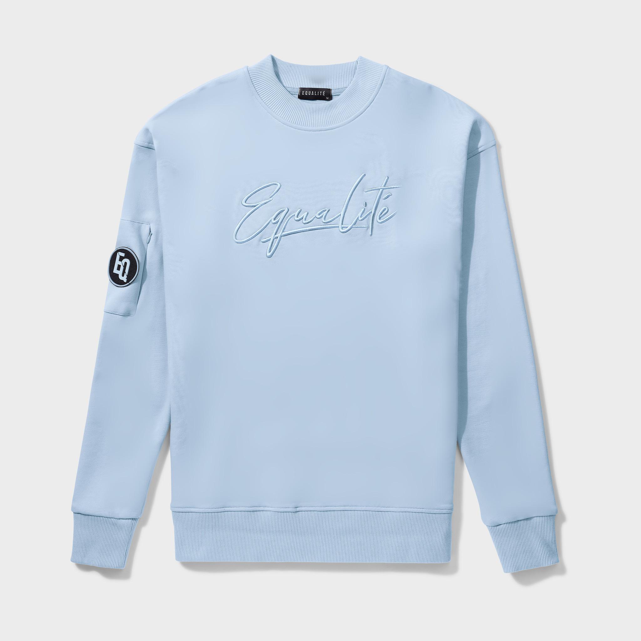 Wafi Signature Sweater Light Blue-1