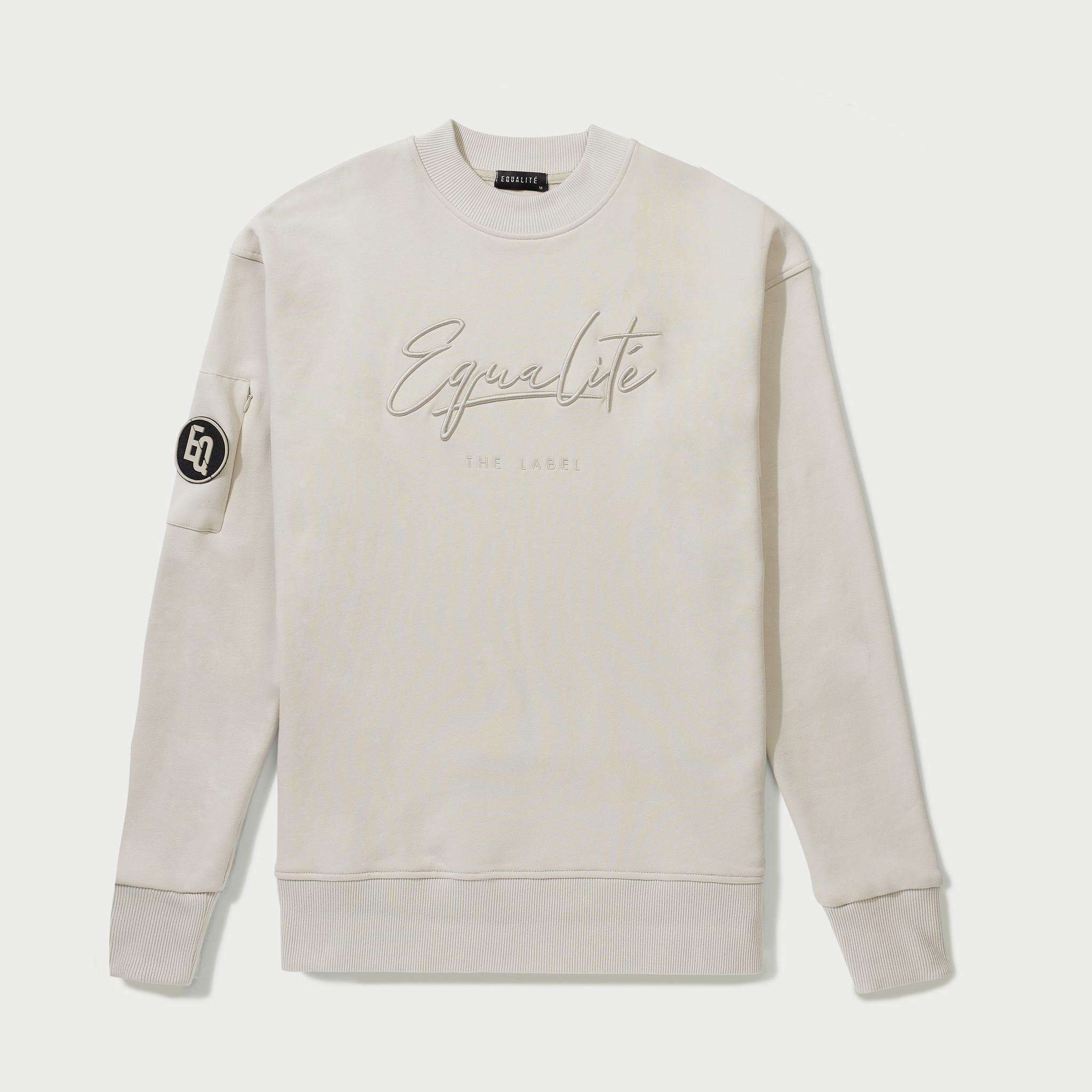 Wafi Signature Sweater Beige-1
