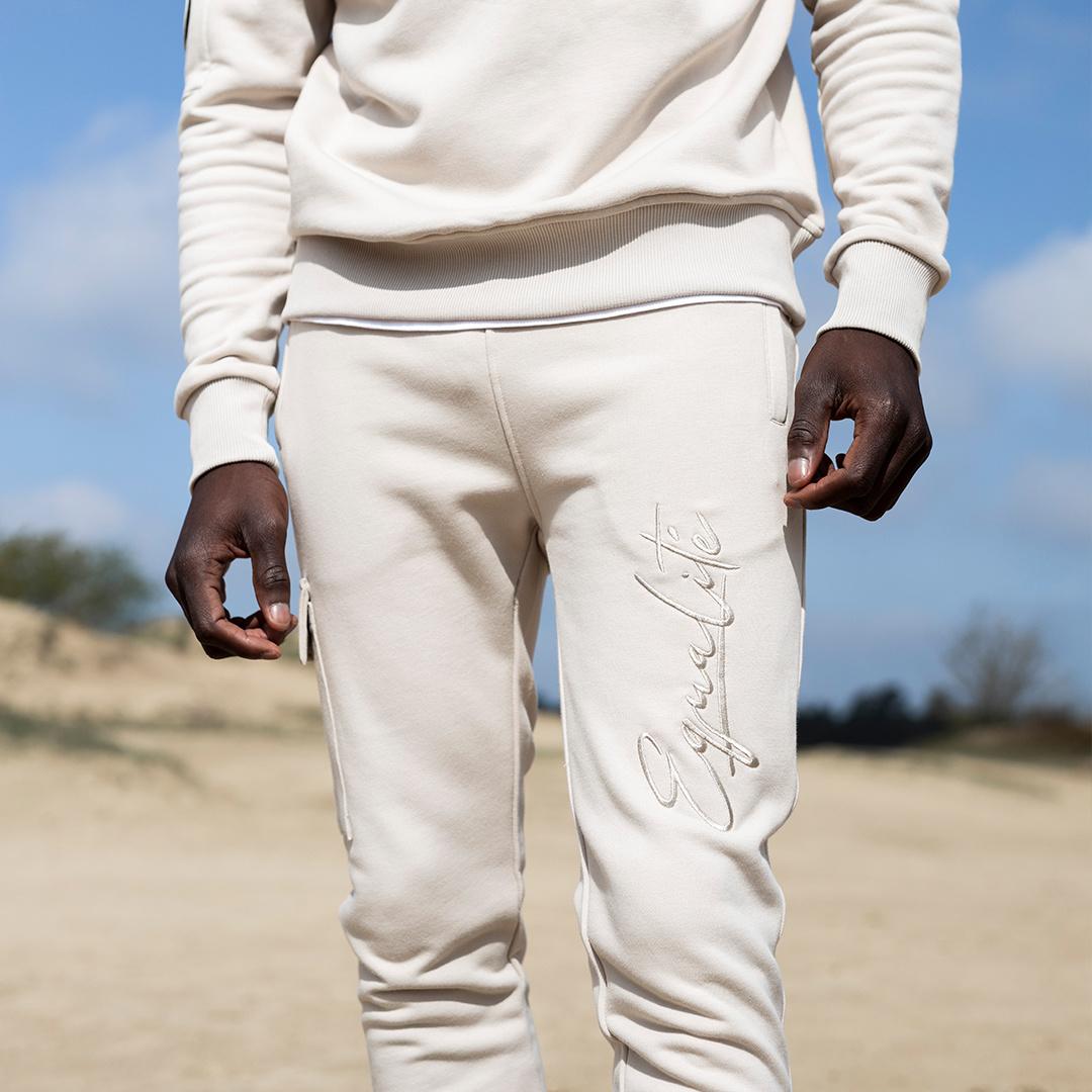 Wafi Signature Pants Beige-5