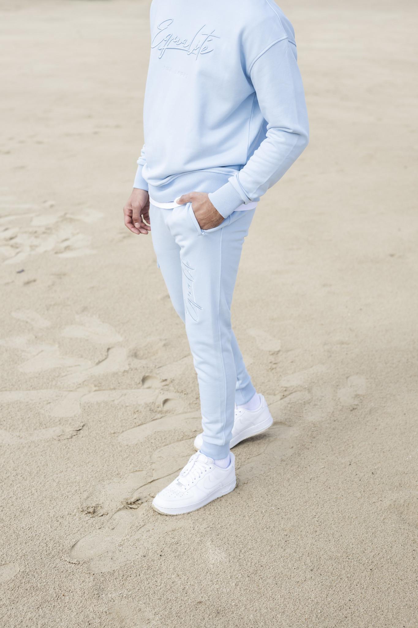 Wafi Signature Pants Light Blue-4