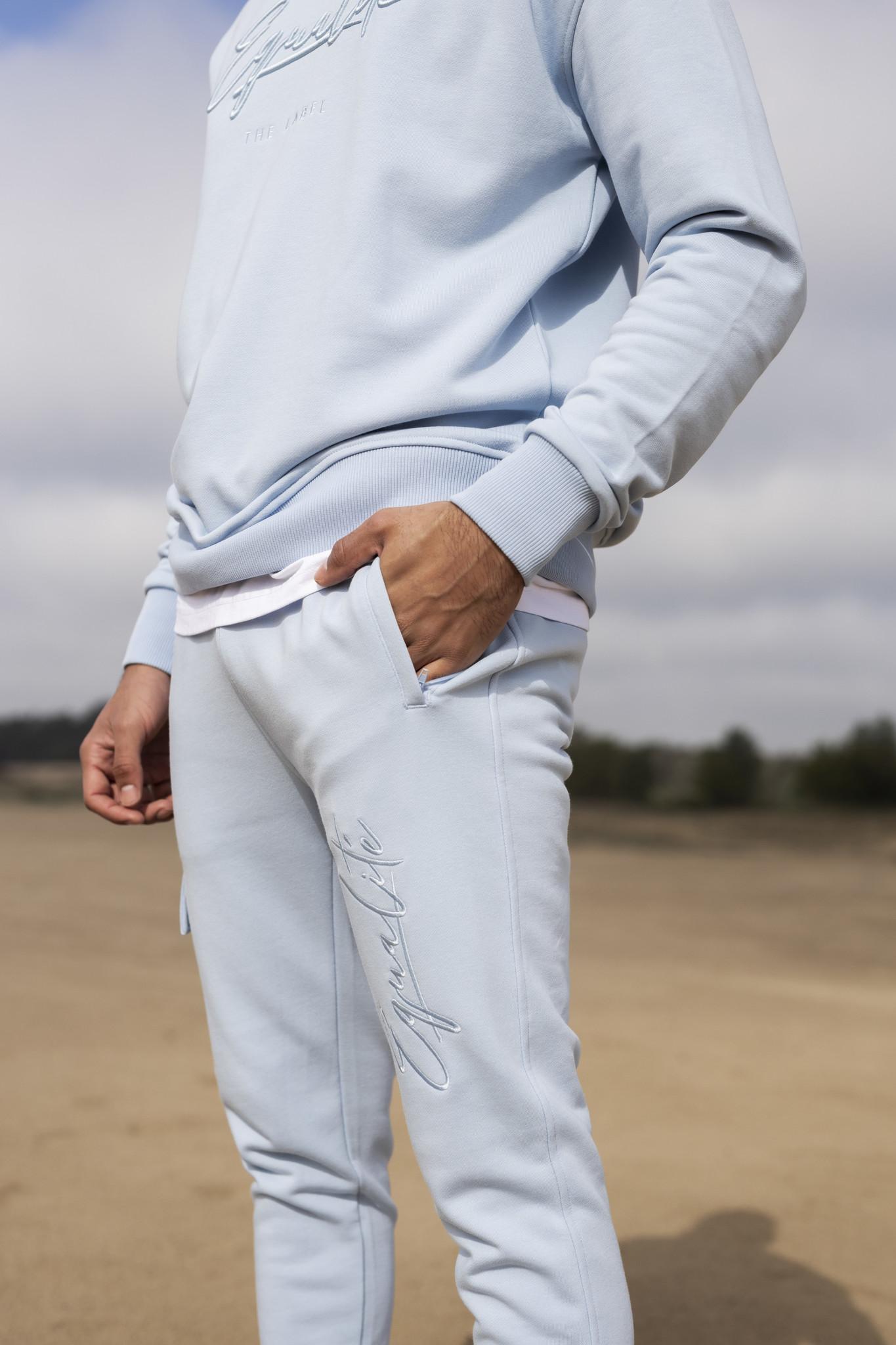 Wafi Signature Pants Light Blue-5