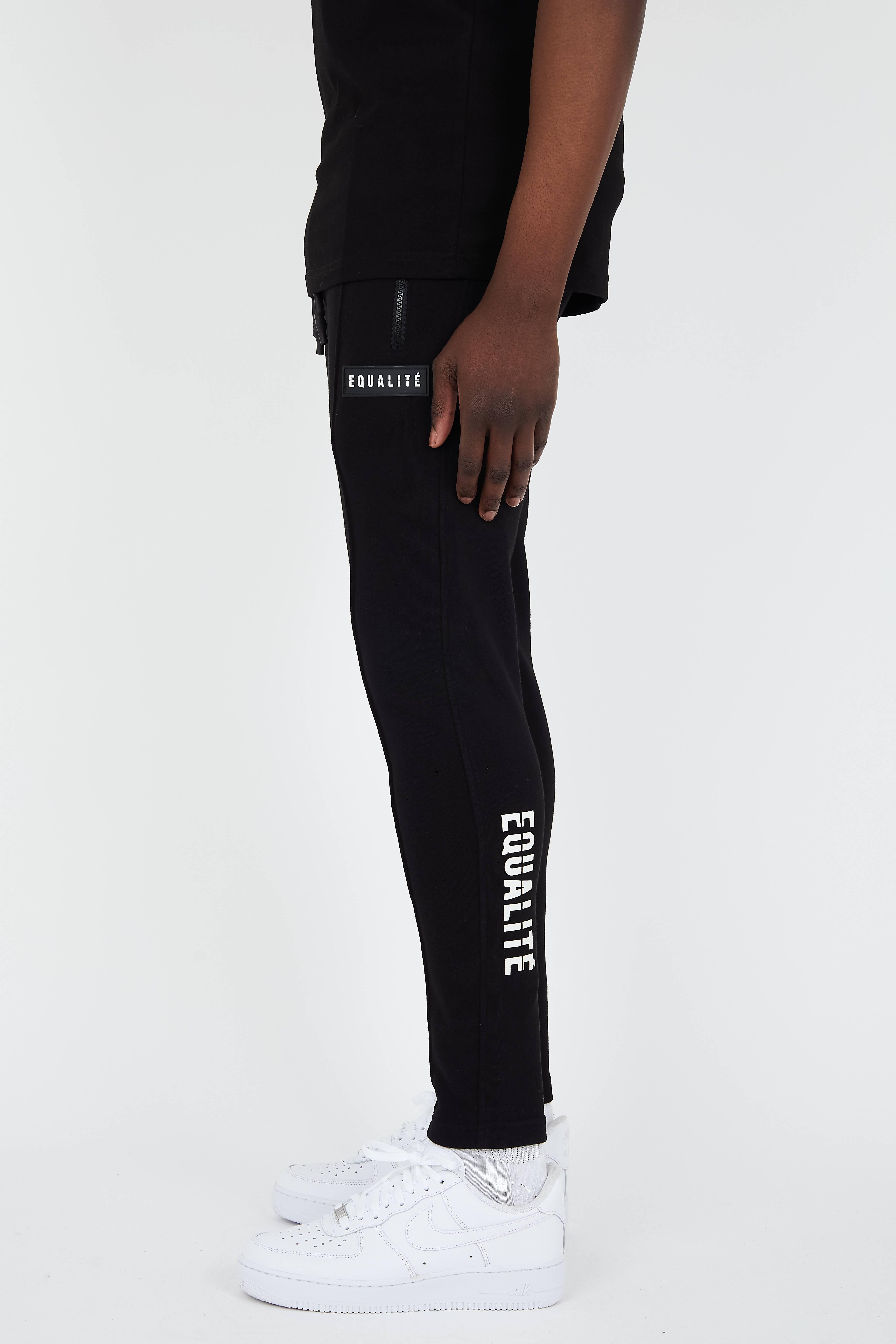 EQUALITÉ TRACK PANTS BLACK-2