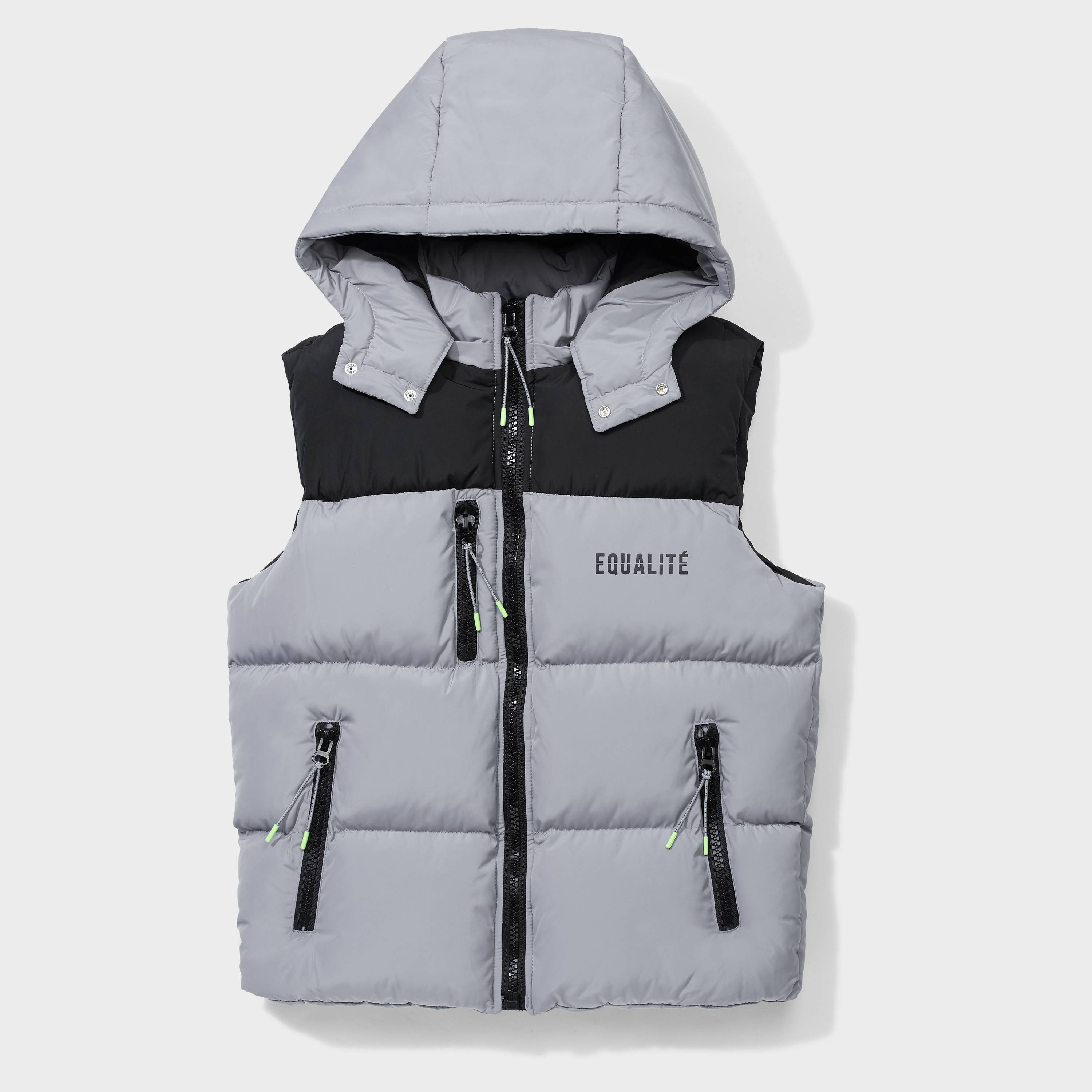 DOUBLE BODYWARMER GREY & BLACK-1