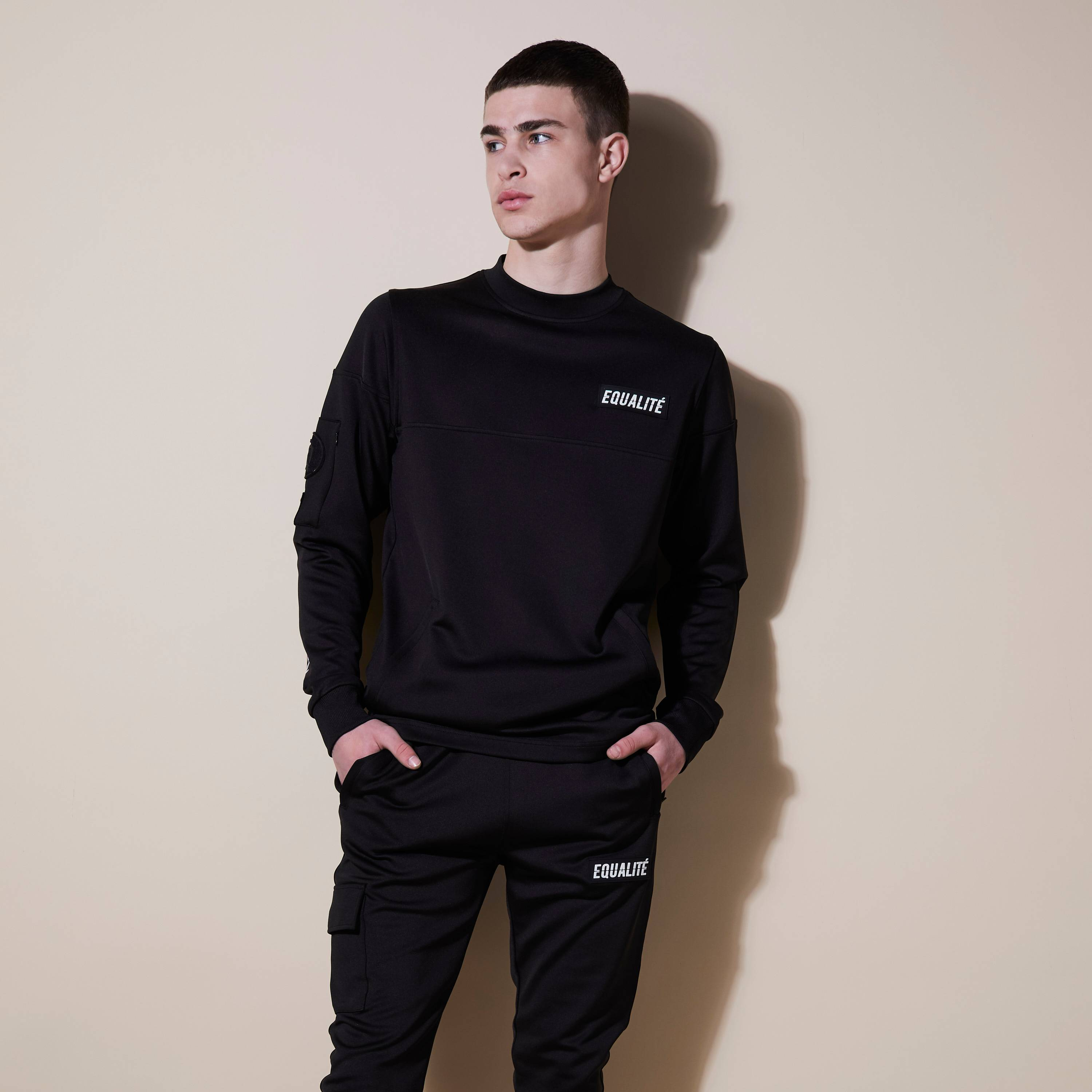 FUTURE POLYESTER TRACKSUIT BLACK-1