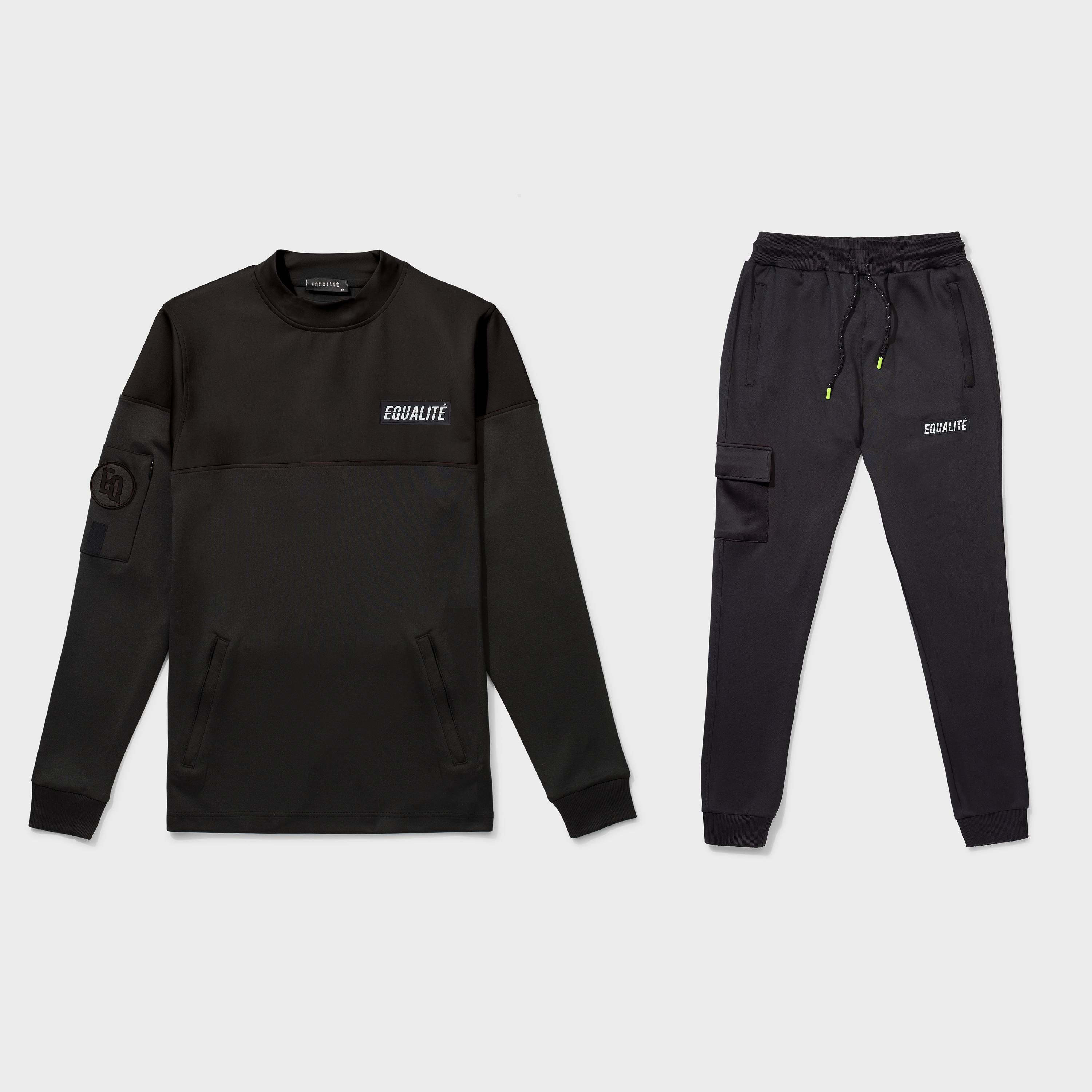FUTURE POLYESTER TRACKSUIT BLACK-2