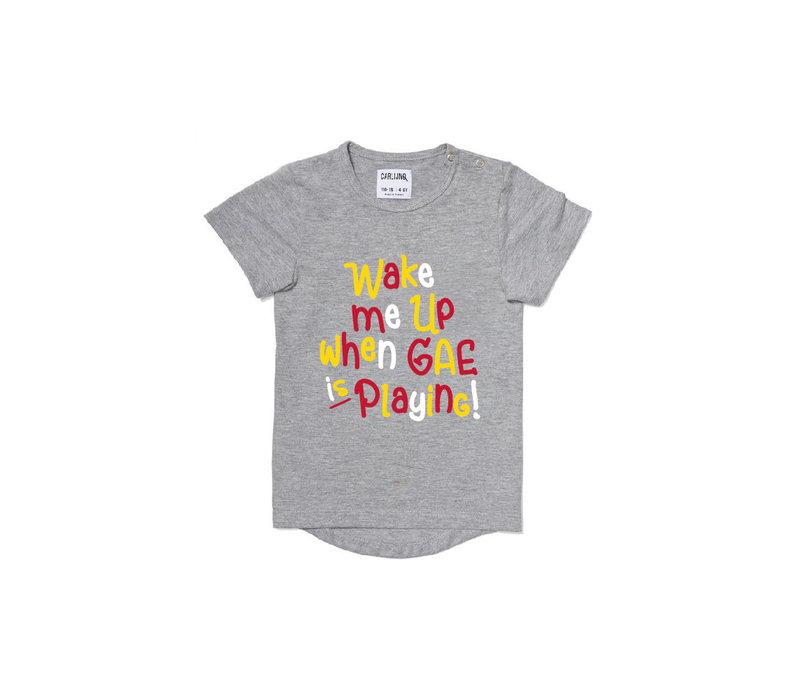 T-shirt 12-18 maand - Wake me up