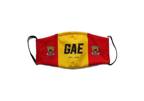 GO Ahead Eagles Premium mondkapje GAE, rood/geel