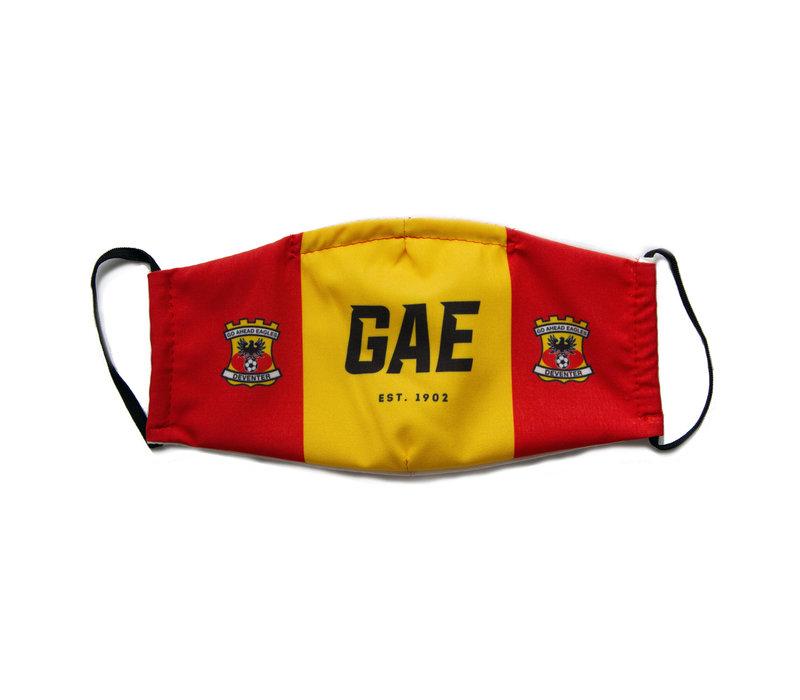 Premium mondkapje GAE, rood/geel