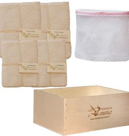 LES TENDANCES D'EMMA Eco-friendly kit washable / reusable bamboo wipes