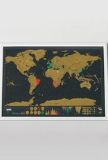 LUCKIES Carte Scratch Map Deluxe