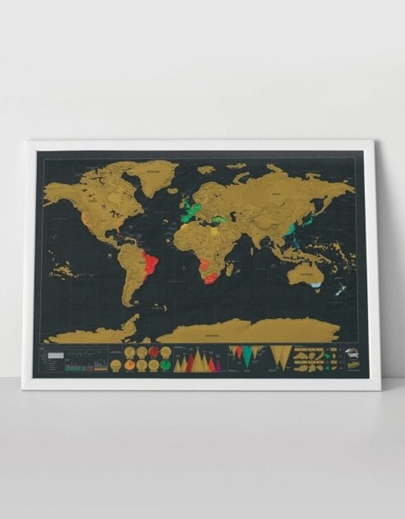 LUCKIES Scratch deluxe map carte