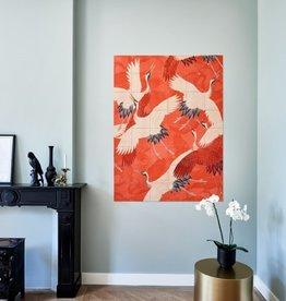 IXXI Tiles Are Two-Sided Kimono With Crane Ixxi