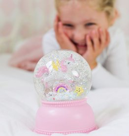 LITTLE LOVELY COMPANY Snow globe Light Eenhoorn