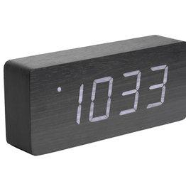 PRESENT TIME Wekker Dark Wood Tube Present Time