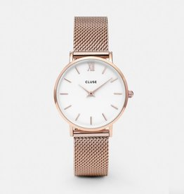 CLUSE Midnight Mesh Rose Gold Silver Cluse