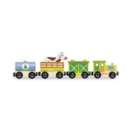 JANOD Petit Train en Bois Story Train Janod