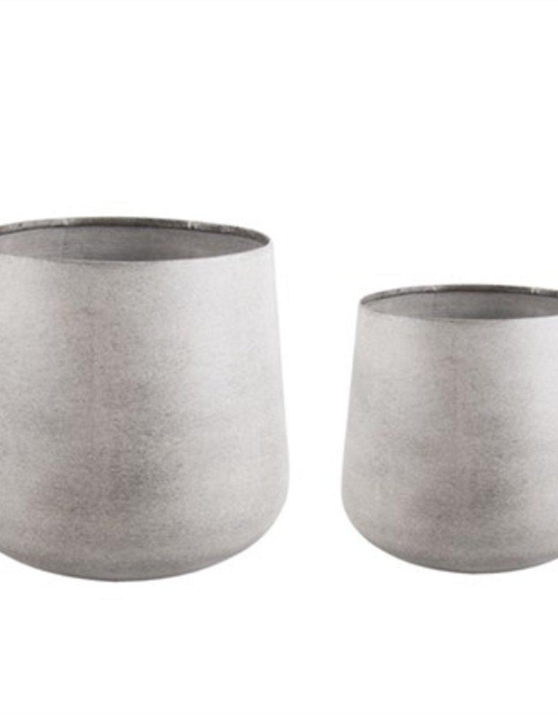 PRESENT TIME Bloem Pot Metal Gréné