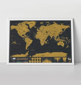 LUCKIES Scratch Map Travel Deluxe