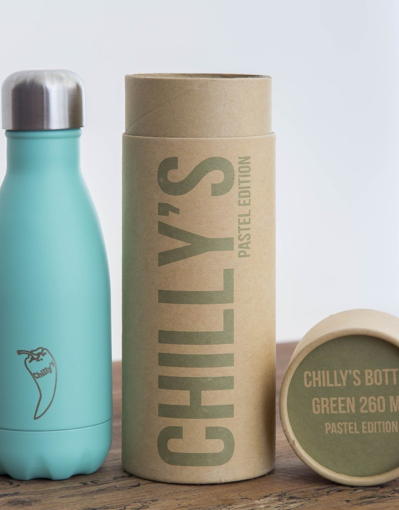 CHILLY Insulated water bottle Green Pastel 300ml Chilly's