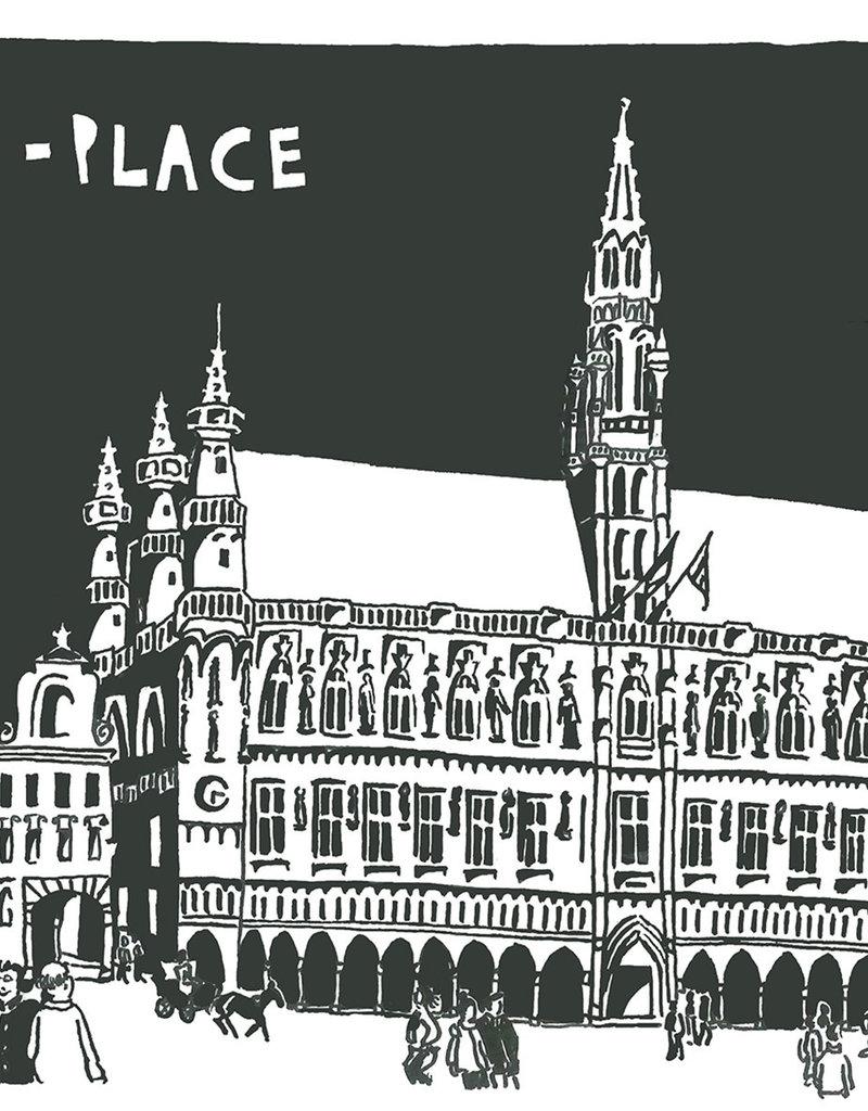 CAMILLE TOUSSAINT Poster Bruxelles C.Toussaint