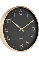 PRESENT TIME GOLD ELEGANCE WALL CLOCK