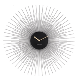 PRESENT TIME PEONY WALL CLOCK