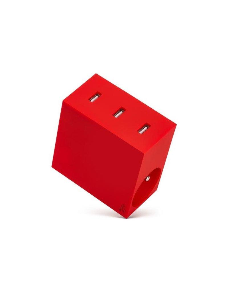 USBEPOWER Lader HIDE 3USB + 2 STEKKERS
