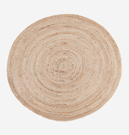MADAM STOLZ ROUND JUTE RUG WITH STRIPES