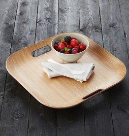 A DOMO Platter bamboo edge