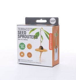 KIKKERLAND TERRACOTTA SEED SPROUTERS  SET 3