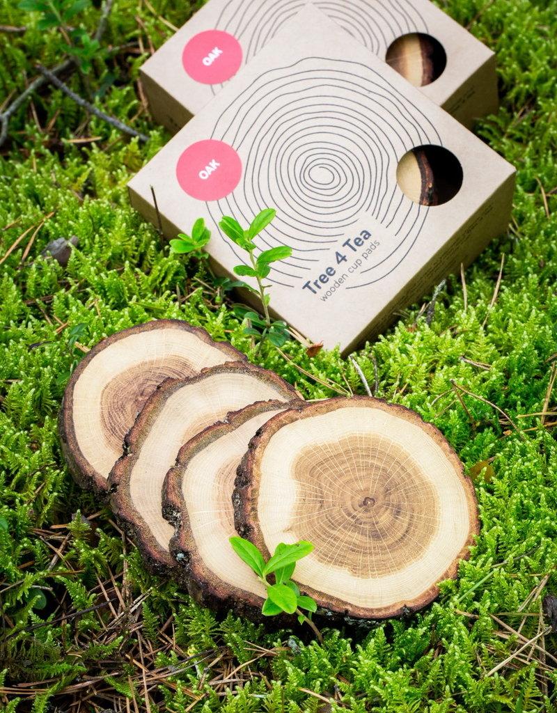 TREE4TEA oak coaster