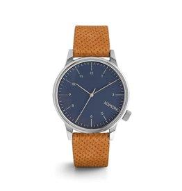 KOMONO Winston zwart houten horloge