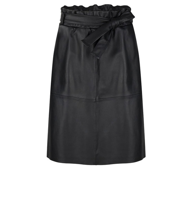 Noora leather skirt