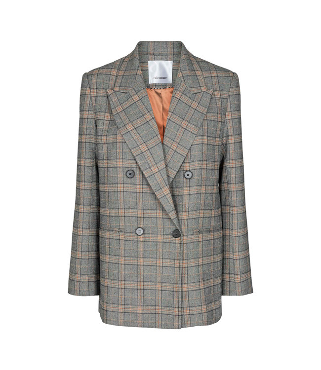 Co'couture Panama Oversized Check Blazer