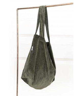 Local Attic Tote Bag washed Moss 45 x 62cm